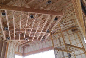 spray insulation installation