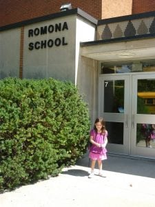 romona school first day m