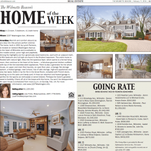 Wilmette Beacon 2207 Washington Home of the Week – In the Press