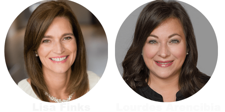 Lisa Finks and Lourdes Arenciba