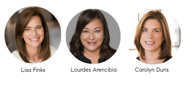 Lisa FInks, Lourdes Arencibia and Carolyn Duris, North Shore Real Estate